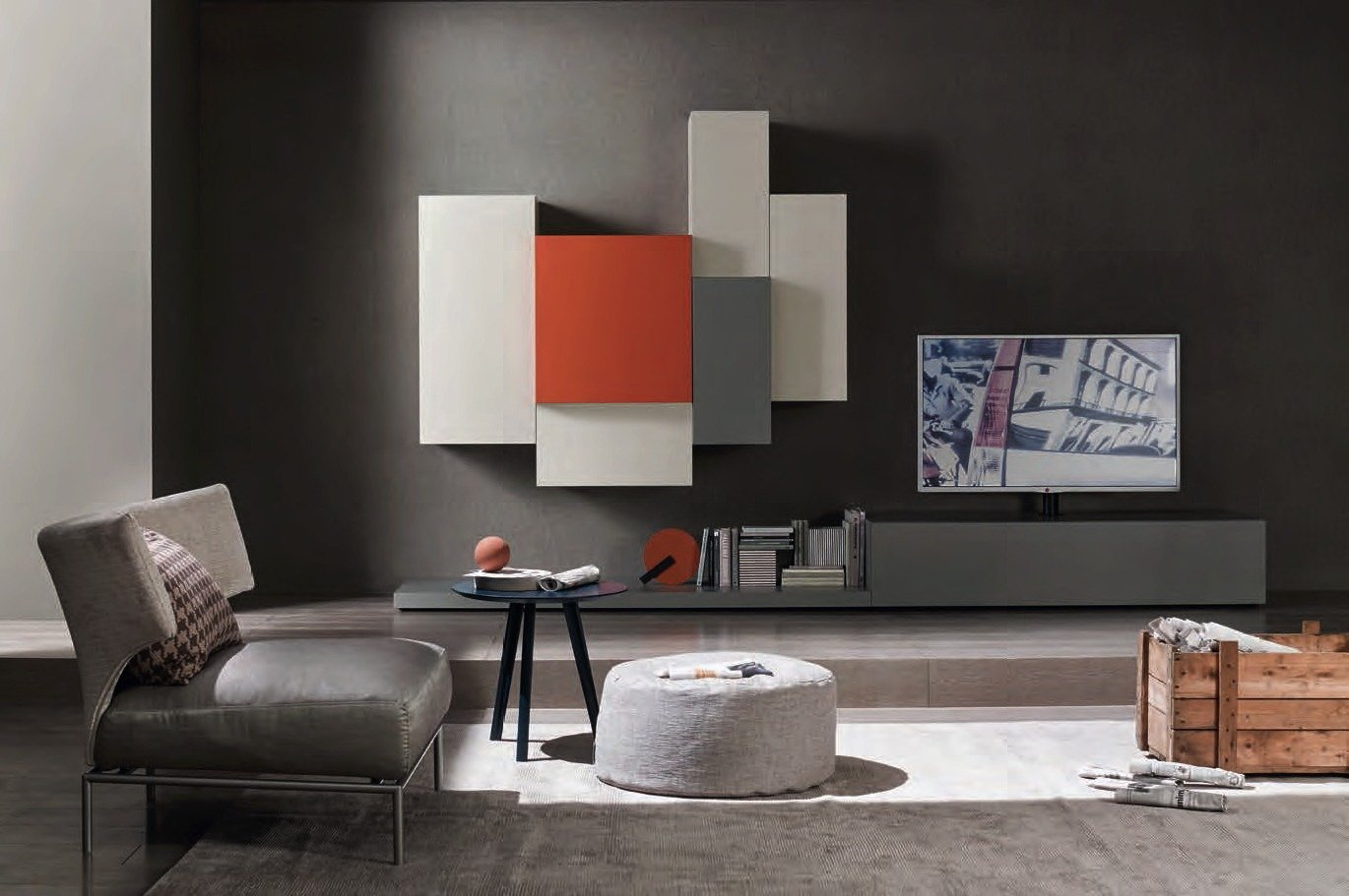 Tredi interiors modern italian design kitchens and furniture for Composizioni soggiorno design
