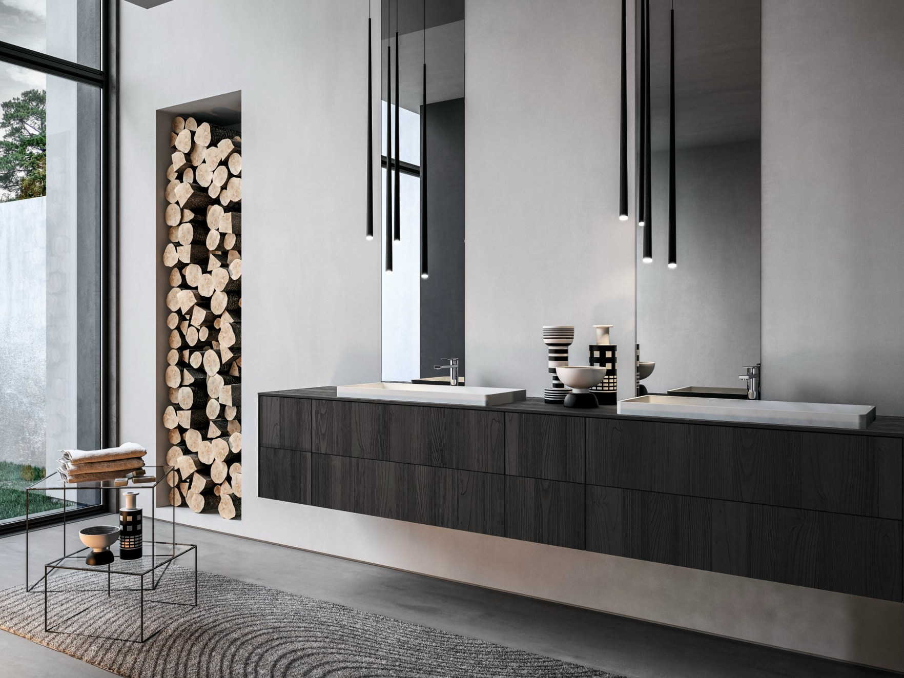 Functionality in italian Modern Vanities