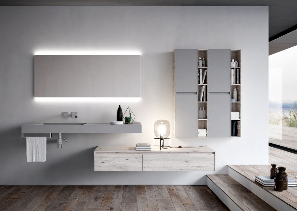 Functionality in italian Modern Bathroom