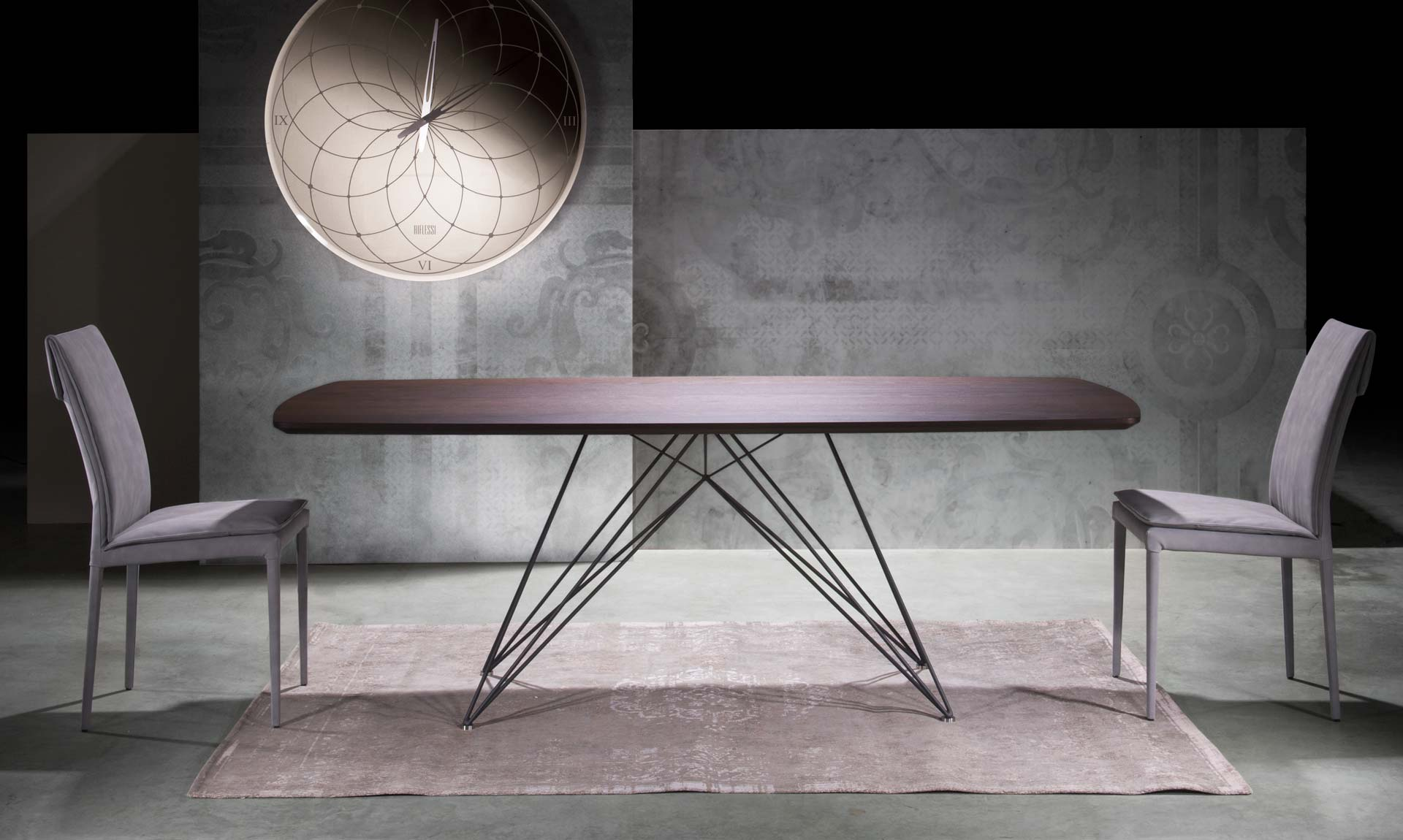 Italian Design - Modern dining table PEGASO By Riflessi