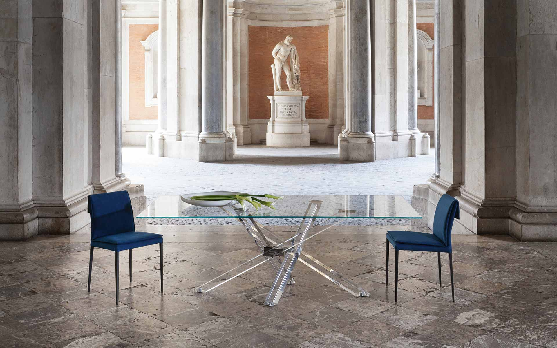 Limited Edition Italian Design dining table SHANGAI by Riflessi-shangai-metacrilato-02