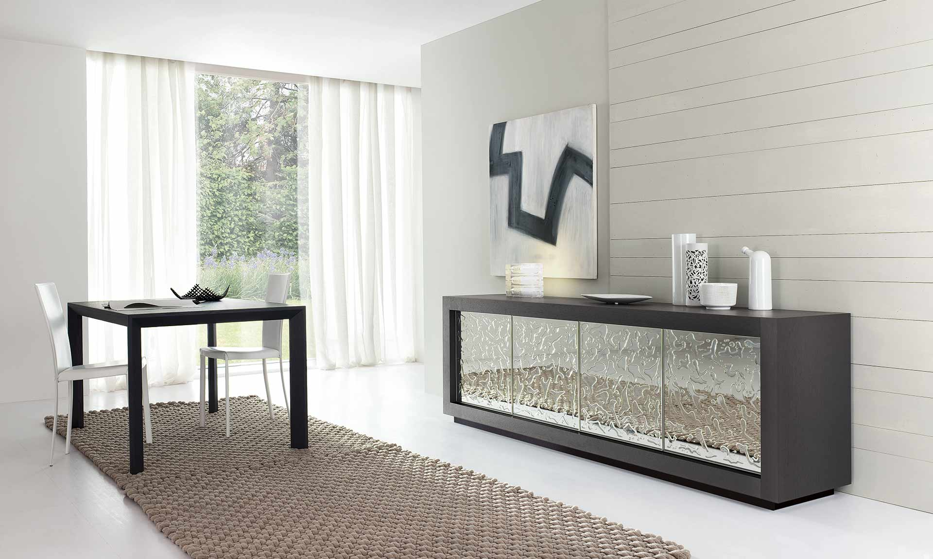 Custom Modern Italian Design sideboard PICASSO by Riflessi - made in Italy-Sideboard-picasso-p12-gocce-doors-by-riflessi