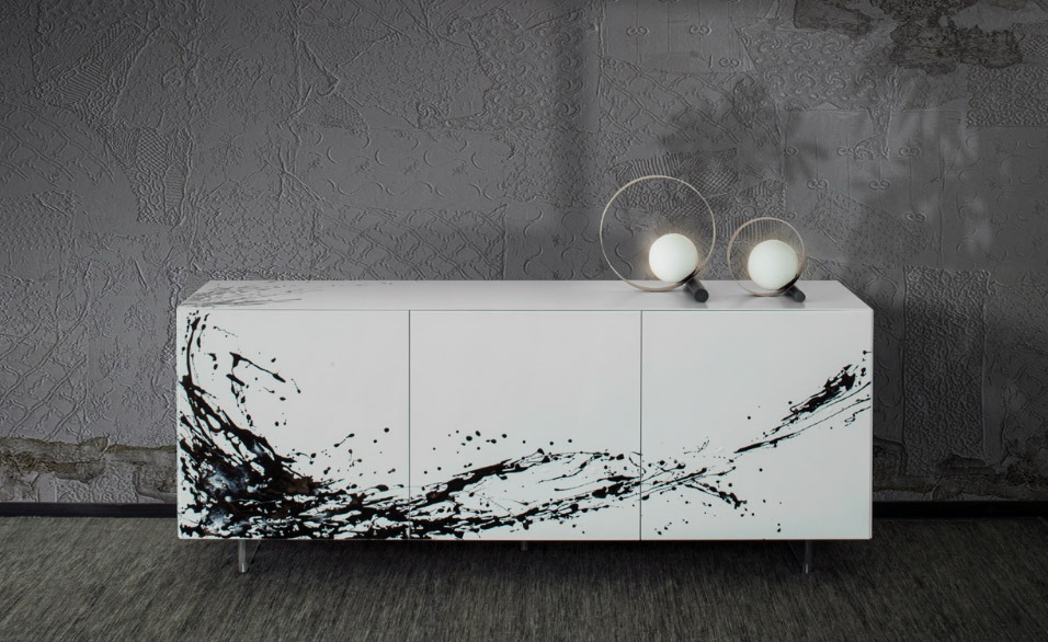 Luxury and Modern Italian Design sideboard ESSENENZIA ART by Riflessi