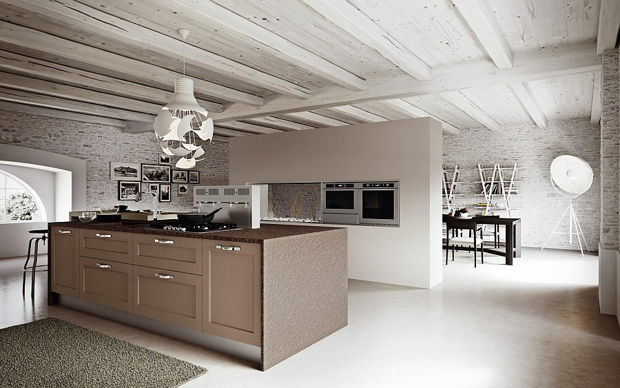 Wooden-beams-add-to-the-appeal-of-the-beautiful-kitchen