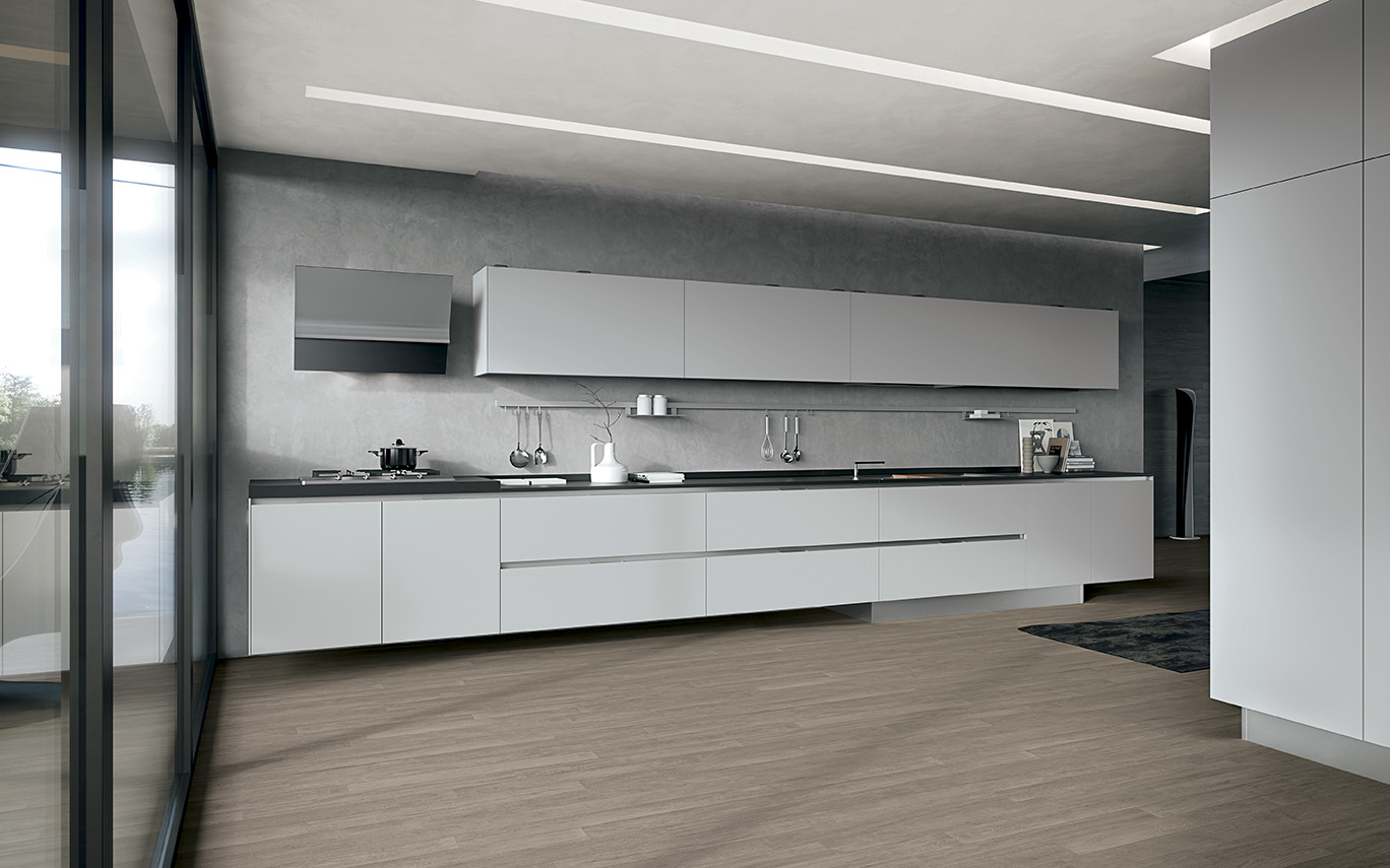 Contemporary white Italian kitchen by Arrital
