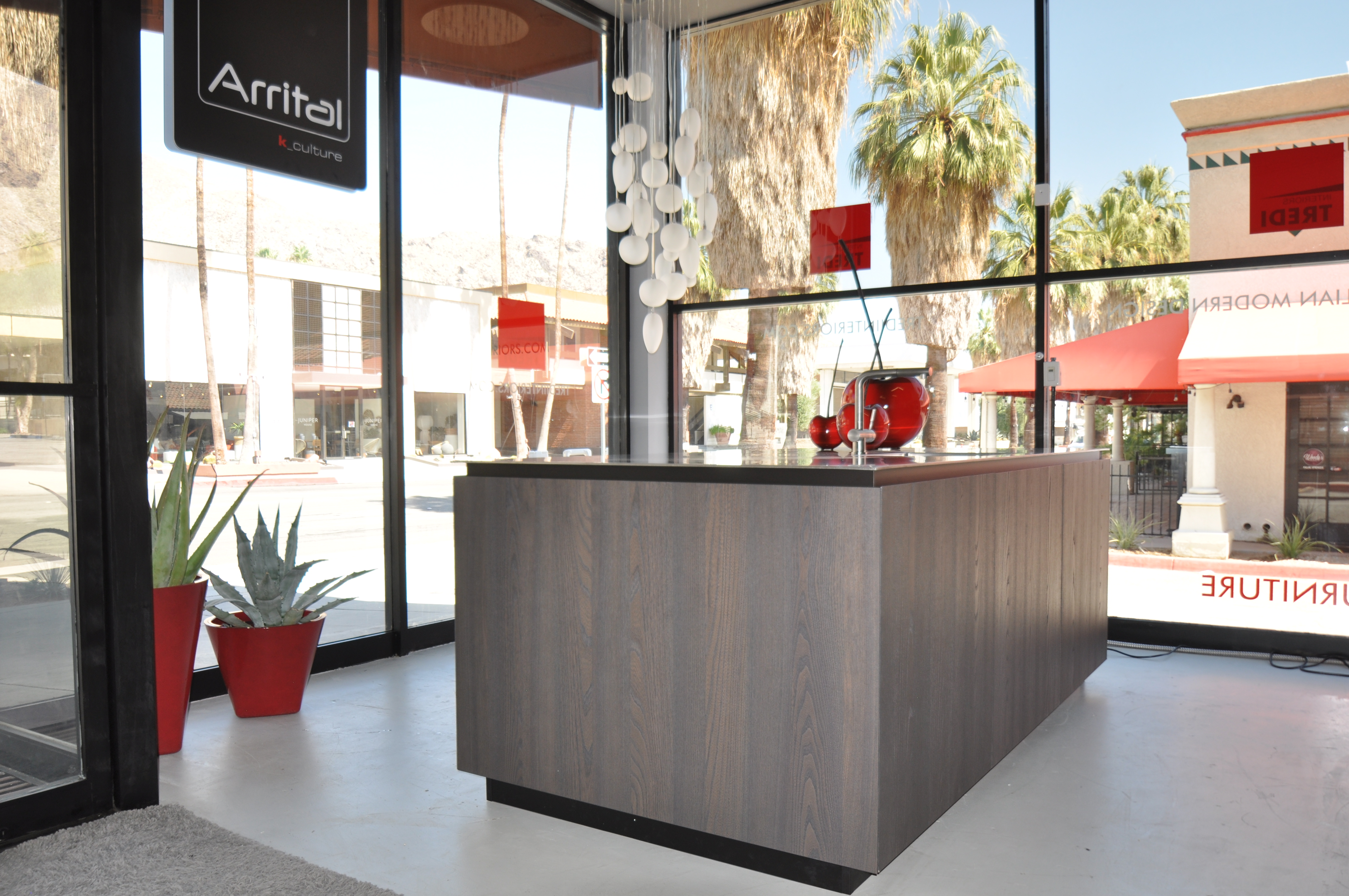 Arrital kitchens showroom in Palm Springs