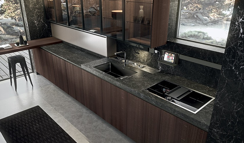 Arrital's Lamina kitchen counter is food safe, durable and beautiful