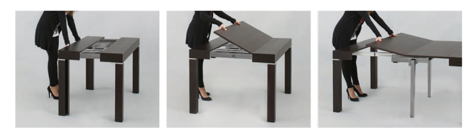 Modern Italian designer Riflessi's extendable table offers a few sizes for your needs.